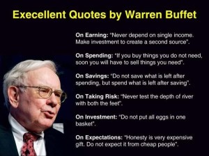 Advice from Warren Buffet